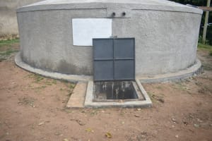 The Water Project: Isango Primary School -  Completed Rain Tank