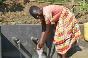 The Water Project: Maraba Community, Nambwaya Spring -  Bevalin Happy At The Spring