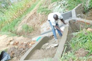 The Water Project: Maraba Community, Nambwaya Spring -  Building The Stairs