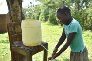 The Water Project: Maraba Community, Nambwaya Spring -  Handwashing Practice