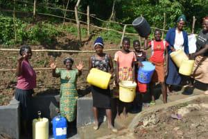 The Water Project: Maraba Community, Nambwaya Spring -  Happy And Satisfied Community