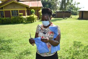 The Water Project: Maraba Community, Nambwaya Spring -  Mask Making