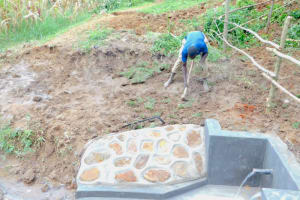 The Water Project: Maraba Community, Nambwaya Spring -  Planting Grass