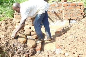 The Water Project: Maraba Community, Nambwaya Spring -  Stone Pitching