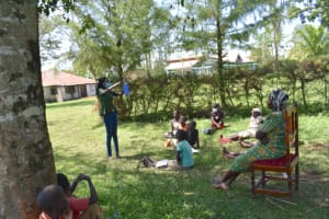 The Water Project: Maraba Community, Nambwaya Spring -  Trainer Elvin In Action