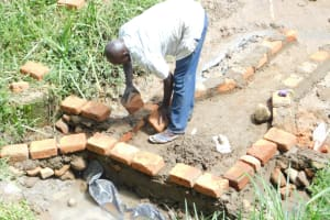 The Water Project: Maraba Community, Nambwaya Spring -  Brickwork Begins