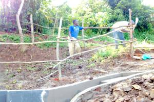 The Water Project: Maraba Community, Nambwaya Spring -  Building The Fence