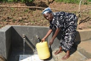The Water Project: Maraba Community, Nambwaya Spring -  Easy Access Fetching Water
