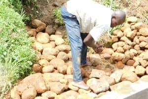 The Water Project: Maraba Community, Nambwaya Spring -  Every Stone Carefully Placed