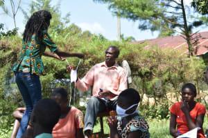 The Water Project: Maraba Community, Nambwaya Spring -  Giving Mask To Active Participant