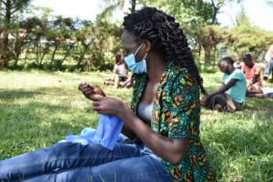 The Water Project: Maraba Community, Nambwaya Spring -  Sewing A Mask