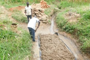 The Water Project: Maraba Community, Nambwaya Spring -  Shaping The Foundation