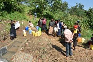 The Water Project: Maraba Community, Nambwaya Spring -  Site Management Training At The Spring