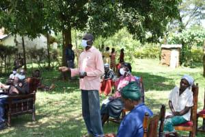 The Water Project: Maraba Community, Nambwaya Spring -  Water Committee Chair Shared Thanks At Training