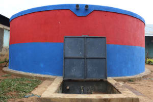 The Water Project: Ivakale Primary School & Community - Rain Tank 1 -  First Water Point In The School