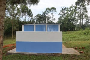 The Water Project: Ivakale Primary School & Community - Rain Tank 1 -  Girls Vip Latrines