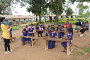 The Water Project: Kapkoi Primary School -  Mask Making Demonstration