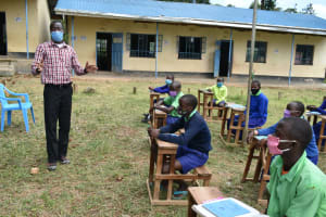 The Water Project: Boyani Primary School -  Headteacher Addresses Students At Training