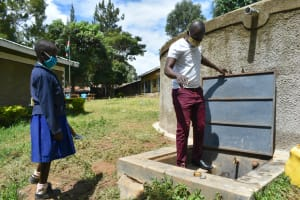 The Water Project: Boyani Primary School -  Trainer Sam Shows The Parts Of The Drawing Point