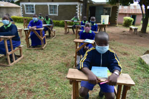 The Water Project: Boyani Primary School -  Masks On