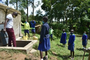 The Water Project: Boyani Primary School -  Tank Use And Maintenance Session