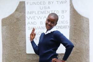 The Water Project: Friends School Shivanga Secondary -  Nanzala Posing At The Latrines