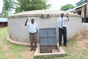 The Water Project: Friends School Shivanga Secondary -  Teachers Give Thanks For The Tank