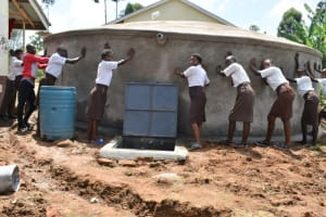 The Water Project: Friends Kisasi Secondary School -  Blessing The Tank