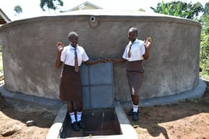 The Water Project: Friends Kisasi Secondary School -  Students Posing At The Tank