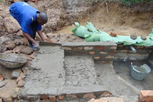 The Water Project: Nguvuli Community, Busuku Spring -  Stairs Construction