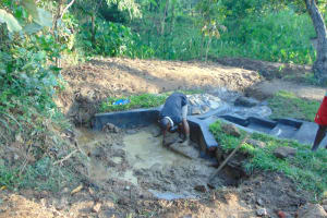 The Water Project: Nguvuli Community, Busuku Spring -  Clay Works