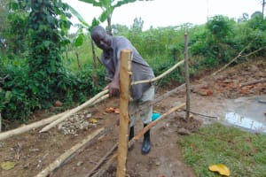 The Water Project: Nguvuli Community, Busuku Spring -  Fencing