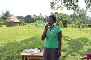 The Water Project: Nguvuli Community, Busuku Spring -  Dental Hygiene Demonstration