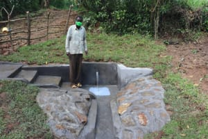 The Water Project: Nguvuli Community, Busuku Spring -  Francis Shaka A Water User Committee Member