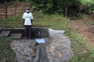 The Water Project: Nguvuli Community, Busuku Spring -  John Busuku Spring Landowner