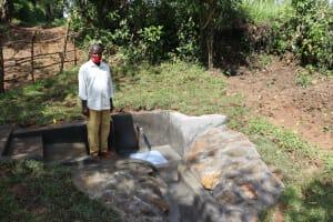 The Water Project: Nguvuli Community, Busuku Spring -  John Shango At The Spring