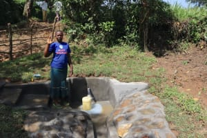 The Water Project: Nguvuli Community, Busuku Spring -  Julia Andisi The Water User Committee Treasurer