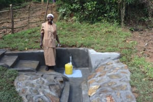 The Water Project: Nguvuli Community, Busuku Spring -  Rose Shango A Water User Committee Member