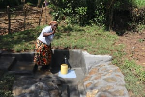 The Water Project: Nguvuli Community, Busuku Spring -  Rosemary Celebrating Clean Water
