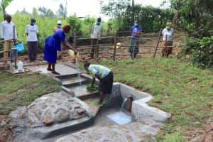 The Water Project: Nguvuli Community, Busuku Spring -  Site Maintenance Practicals