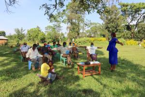 The Water Project: Nguvuli Community, Busuku Spring -  Social Distancing Check