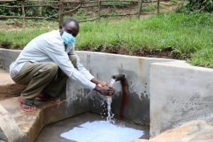 The Water Project: Nguvuli Community, Busuku Spring -  Celebrating At Busuku Spring