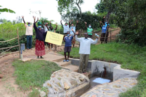 The Water Project: Nguvuli Community, Busuku Spring -  Celebrating At The Spring