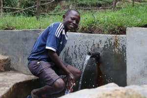 The Water Project: Nguvuli Community, Busuku Spring -  Happy Day