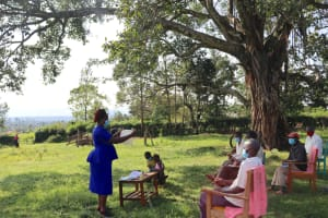 The Water Project: Nguvuli Community, Busuku Spring -  Homemade Mask Making Session