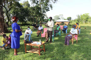 The Water Project: Nguvuli Community, Busuku Spring -  Reacting To The Training