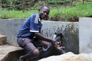 The Water Project: Nguvuli Community, Busuku Spring -  Splash