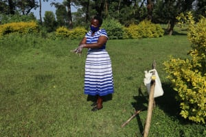 The Water Project: Nguvuli Community, Busuku Spring -  Ten Handwashing Steps Demonstration
