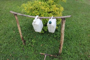 The Water Project: Nguvuli Community, Busuku Spring -  Tippy Tap Handwashing Station
