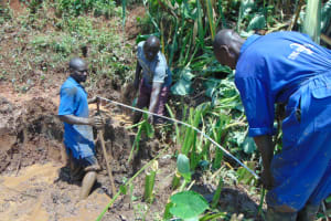 The Water Project: Indulusia Community, Yakobo Spring -  Foundation Measurements